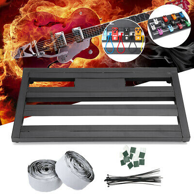 Alloy Pedalboards Effects Pedal Board Cases Electric Guitar Portable +Ties