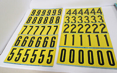 """Brady Stock Y35-0(N) 0-9 assortment numbers 1½"""" wide x 3½"""" tall"""