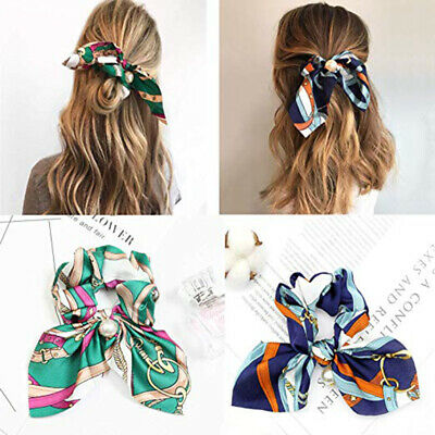 Pearls Elastic Hair Ties Scrunchie Ropes Ponytail Holder Hair Knot Hair Band