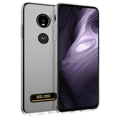 For Motorola Moto Z4 Clear Case Shockproof Soft TPU Case Slim Bumper Armor Cover