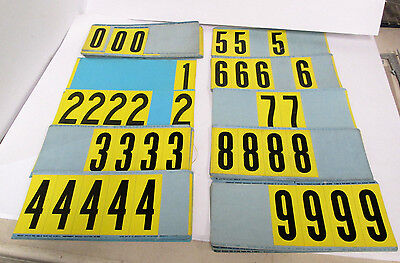 """Brady Stock Y35-0(N) 0-9 assortment numbers 1½"""" wide x 3½"""" tall (189 total)"""
