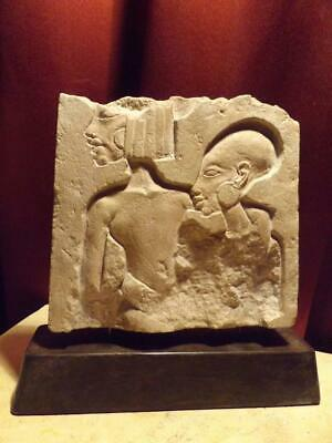 Egyptian art Akhenaten & Nefertiti's daughters relief sculpture fragment replica