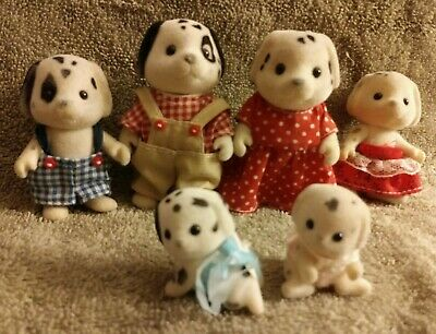 Calico Critters DALMATION DOG FAMILY + Baby TWINS Sylvanian Families/ Epoch