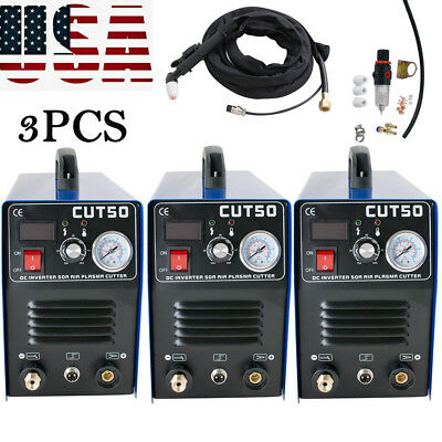 3x50A CUT-50 Inverter DIGITAL Air Cutting Plasma Cutter Welding machine FROM USA