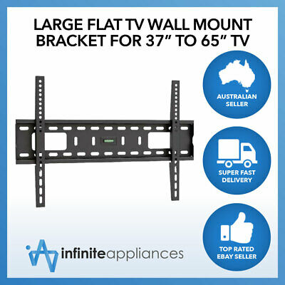 "Large Flat TV Wall Mount Bracket For 37""-65"" TV 40"" 50"" 55"" 60"""
