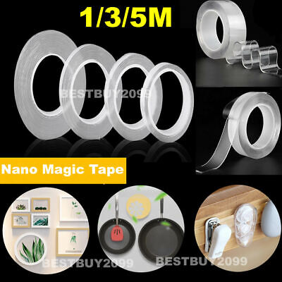 Nano Magic Double-Sided Tape Traceless Adhesive Invisible Gel Anti-Slip Reusable