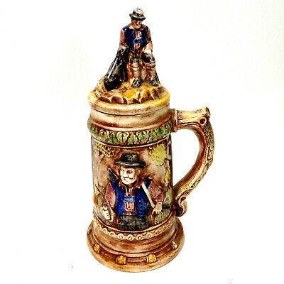 Vintage Large Ceramic Lidded Beer Stein