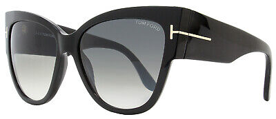 40796e523625a Tom Ford Cateye Sunglasses TF371 Anoushka 01B Shiny Black FT371