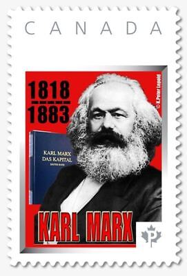 Karl Marx 200 Anniv of Birth 2018 CDN Picture Postage Commemorative stamp