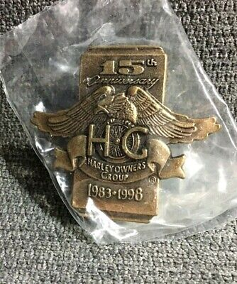 Harley Davidson HOG Owners Motorcycle Group 15th 1983-1998 Anniversary Pin