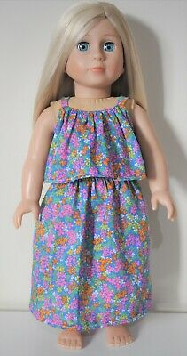 """American Girl Dolls Our Generation 18"""" Doll Clothes Ruffle Maxi Sun Dress"""