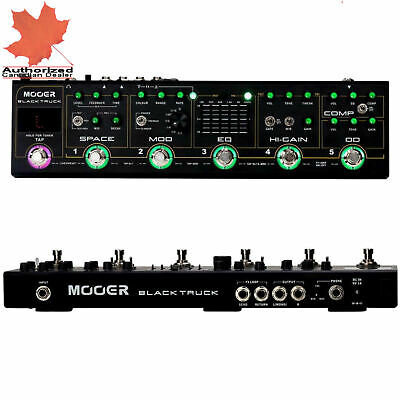Mooer Black Truck 6 effects pedals in 1 Guitar Effects Pedal NEW! w Carry Case