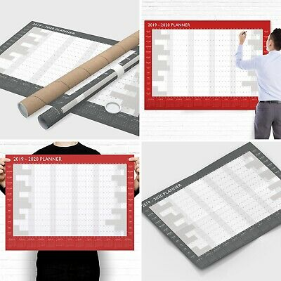 Large 2019 2020 Academic Wall Planner - Mid Year Student Calendar