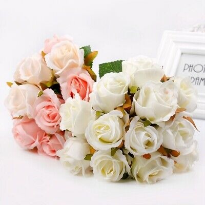 Artificial Silk Flower Rose Peony Small bouquet Floral Home Party Wedding Supply