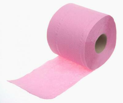 Clearance 36 x Pink Soft Silk Toilet Tissue Rolls - 2 ply Soft & Strong Paper