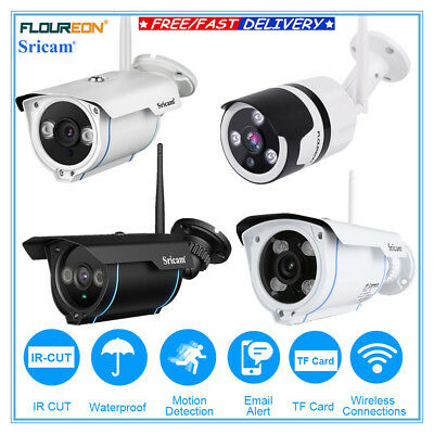 1080P/720P Wifi Wireless CCTV Security IP Camera IR-CUT Night Vision Waterproof