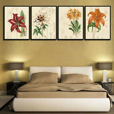 Colorful Flowers Canvas Painting Poster Wall Art Picture Bedroom Decor Novelty
