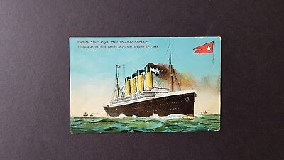 An original 1912 White Star Line Titanic postcard with related message.
