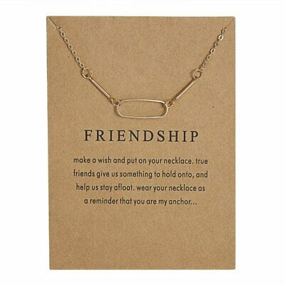 Fashion Simple Gold Geometric Oval Charms Pendant Necklace Womens Jewellery
