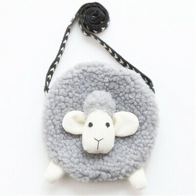 Cute Sheep Shoulder Bag Girls Plush Cross Body Bag Messenger Small Wallet LA
