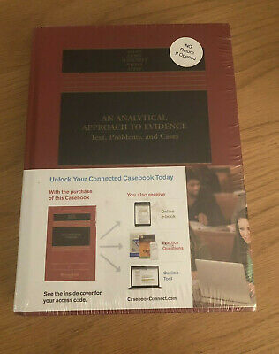 An Analytical Approach To Evidence Text Probkems And Cases Text Book New Sealed