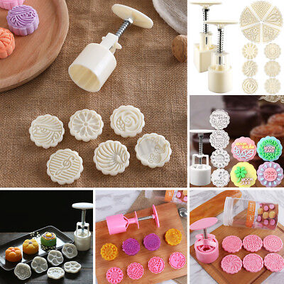50-125g Mooncake Moon Cake Decor Round Pastry Mold Mould Flower Decoration Tool
