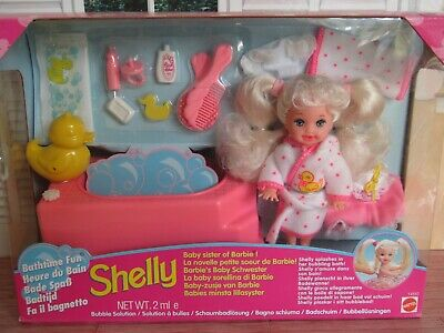 Barbie Shelly Doll Bathtime Fun 1995 - New Sealed Boxed