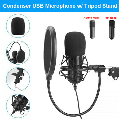 Condenser USB Microphone Magnet Ring Adjustable For Chatting Podcasting Gaming