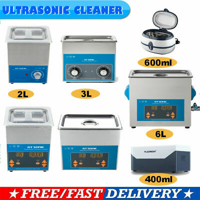 UK STOCK! Stainless Ultrasonic Cleaner Ultra Sonic Bath Wave Cleaning Tank Timer