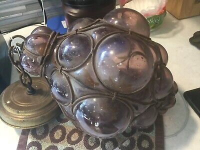 Vintage Purple Hangng Light Fixture Glass Grapes?