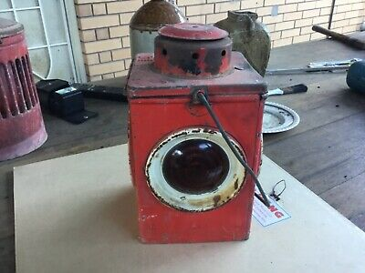 Vintage Appleton Patent Road Railway Warning Kerosene Kero Hazard Oil Lamp PMG
