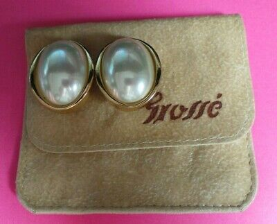 Vintage Christian Dior Clip On Faux Pearl EARRINGS