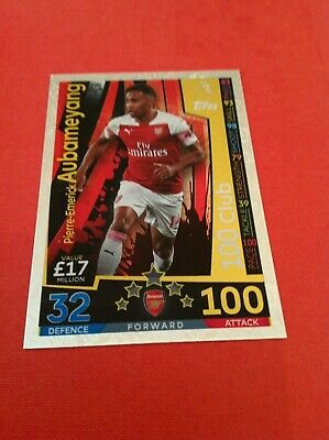 Match Attax Extra 2018/19 Pierre-Emerick Aubameyang 100 Hundred Club