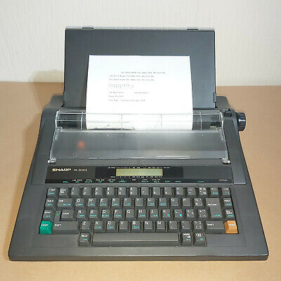 Sharp PA-3030S Programmable Electric Typewriter Tested & Working Retro 90's Grey