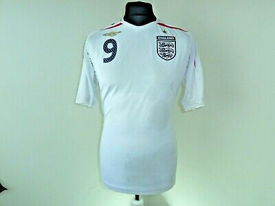 ENGLAND FOOTBALL shirt ENGLAND SOCCER JERSEY MAN UTD camiseta ROONEY 9 large