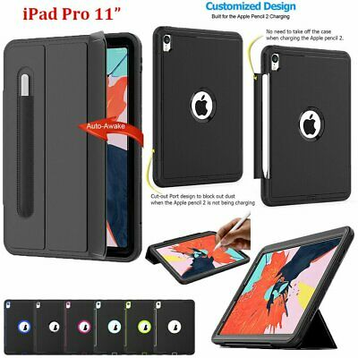 For Apple iPad Pro 11 inch Tough Smart Case Rugged Shockproof Stand Armour Cover