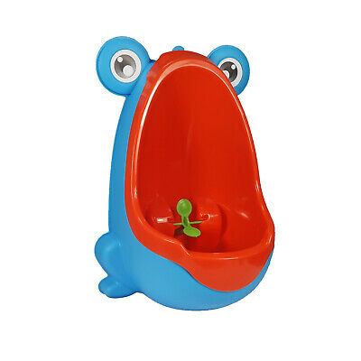 Blue & Yellow Baby Potty Boy Training Urinal Frog Fun Toddler Toilet Trainer