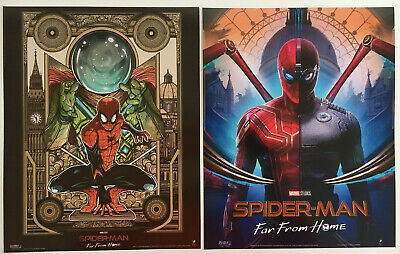 Marvel Spider-Man ODEON Posters Far From Home Suits Mysterio Approx A4