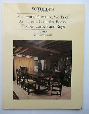 Sotheby's Auction Catalogue - Metalwork, Furniture, Works of Art...1986