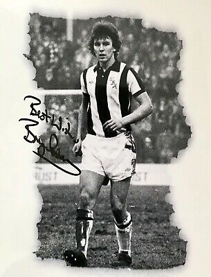 Bryan Robson HAND SIGNED 10x8 West Bromwich Albion Photograph *IN PERSON* COA