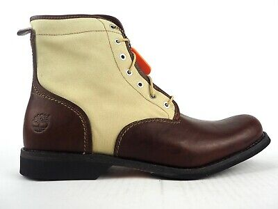 cdb9ca9895 Mens Timberland EK City 6 Inch Lace 45571 Brown Leather Lace Up Casual Boots