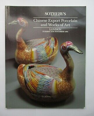 Sotheby's Auction Catalogue - Chinese Export Porcelain and Works of Art 1991