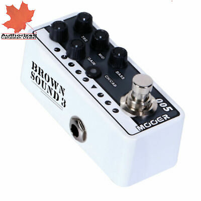 Mooer Micro Preamp 005 Brown Sound 3 Guitar Effects Pedal Based on 5150