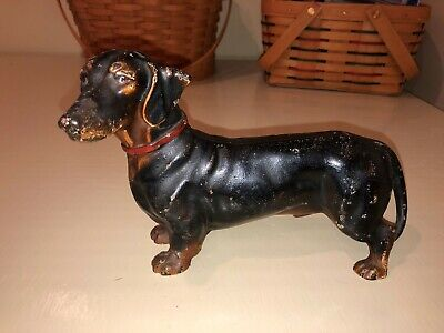Hubley Cast Iron Dachshund Antique Doorstop