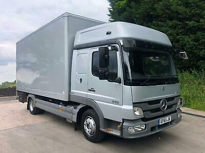2011 61 Mercedes Atego 818 high roof sleeper 18ft box, tail-lift, air suspension
