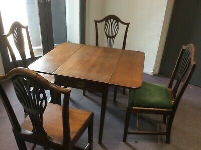 Antique Georgian Table And Hepplewhite Chairs