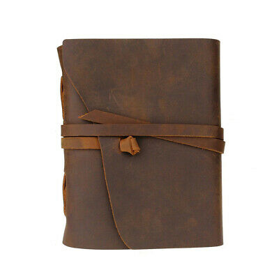 With Strap Art Travel Antique Handmade Notebook Imitation Leather Unlined Paper