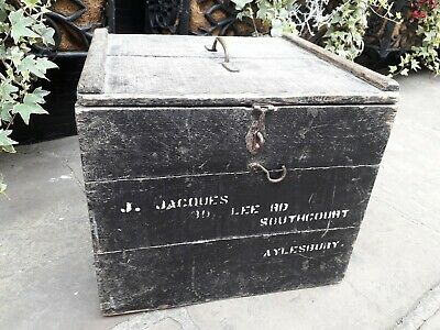 Antique / Vintage Racing Pigeon Carrier Box / Wooden Box