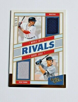 2019 Leather And Lumber MOOKIE BETTS / AARON JUDGE Rivals Dual Relic #50/99