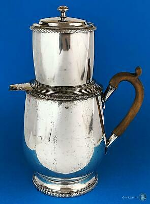 RARE Large Early 19th Century FRENCH FUSED PLATE COFFEE PERCOLATER 2 Parts